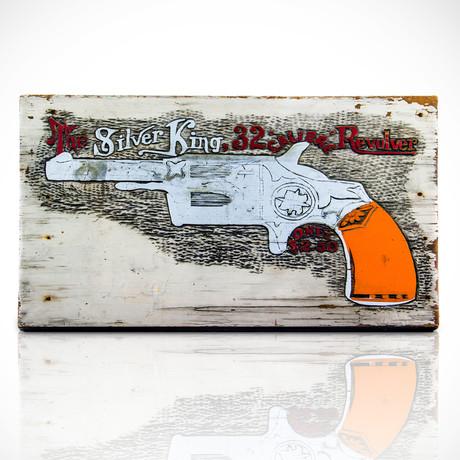 The Silver King Revolver // Original Vintage Sign