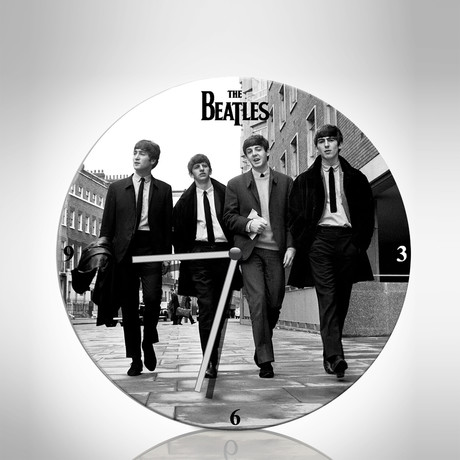 The Beatles // Wood Wall Clock