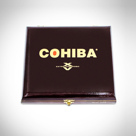 Cohiba Extra Vigoroso // Wooden Oxblood Vintage Cigar Box