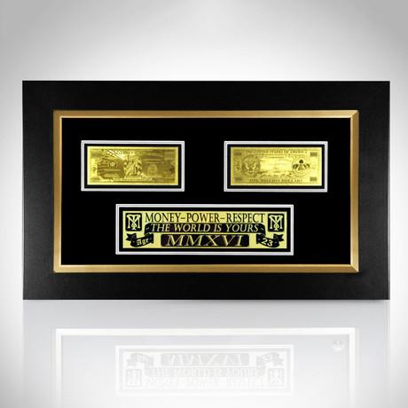 $1 Million Bill // 24K Gold-Plated Custom Frame