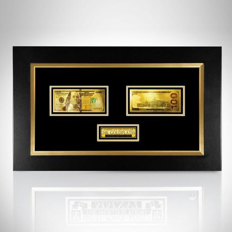 $100 Bill // 24K Gold-Plated Custom Frame