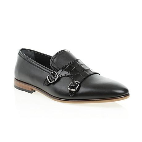 Strapped Dressy Slip-On // Black (Euro: 40)