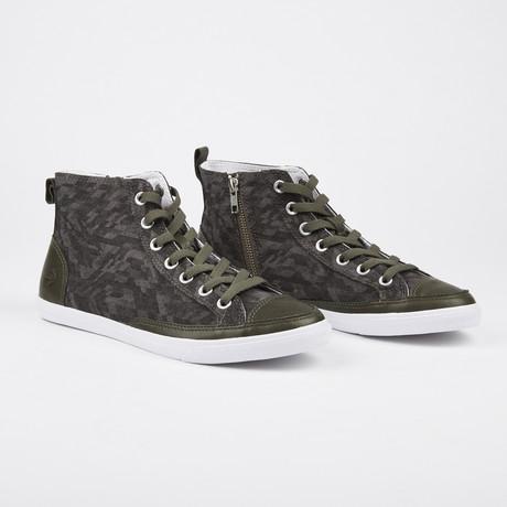 Vintage High Top Sneaker // Olive