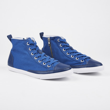 High Top Vintage Sneaker // Blue (Euro: 41)