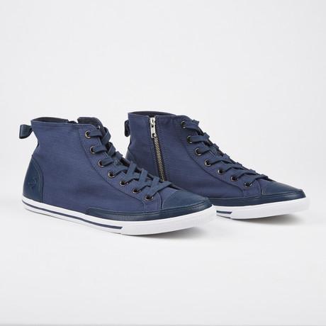 Vintage High Top Sneaker // Blue