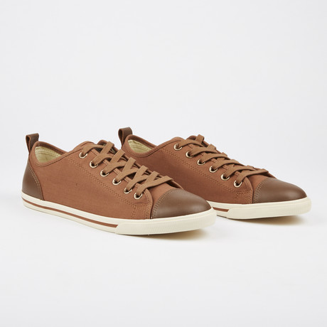 Ox Vintage Solid Plaid Sneaker // Light Brown (Euro: 41)