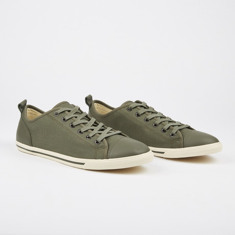 Ox Vintage Solid Plaid Sneaker // Olive (Euro: 41)