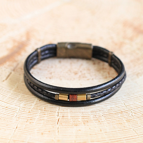 Booth Bracelet // Black + Brass