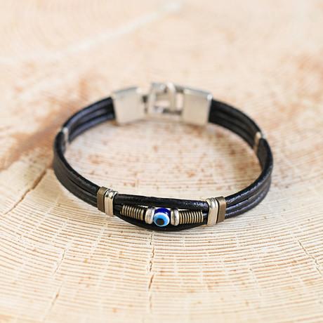 Wells Bracelet // Black + Silver