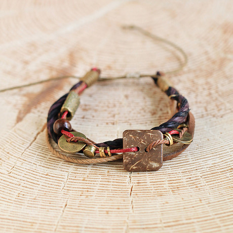 Lowe Bracelet // Black + Brown + Brass