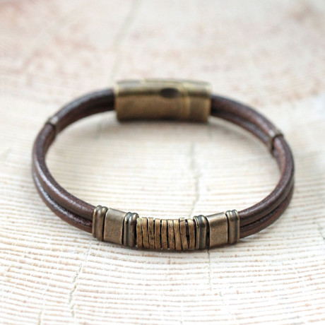 Marsh Bracelet // Brown + Brass