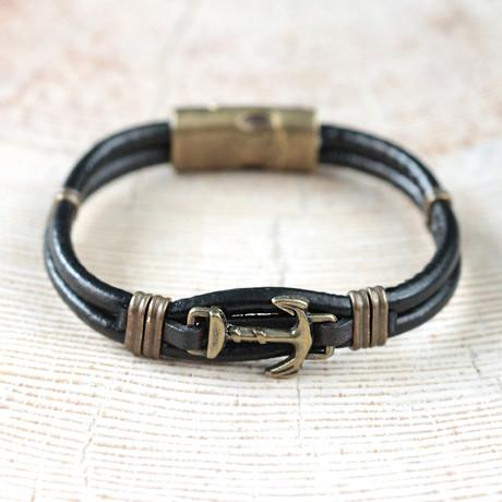 Dunn Bracelet // Black + Brass