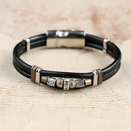 Armstrong Bracelet // Black + Silver