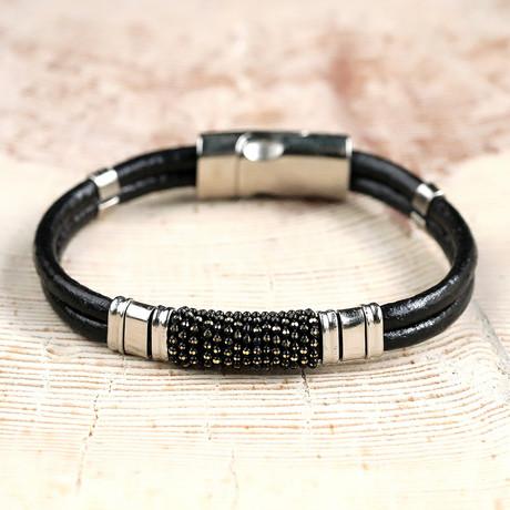 Nicholls Bracelet // Black + Silver