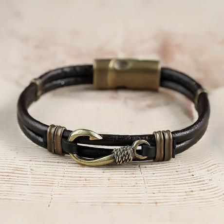 Byrne Bracelet // Black + Brass