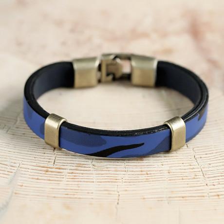 Yates Bracelet // Blue + Silver