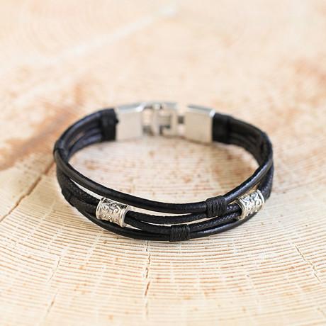 Hart Bracelet // Black + Silver