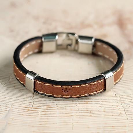 Parry Bracelet // Cognac + Silver