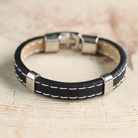 Hopkins Bracelet // Black + Silver