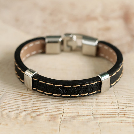 Henderson Bracelet // Black + Silver