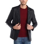 Upright Leather Jacket // Black (S)