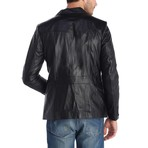 Upright Leather Jacket // Black (XL)