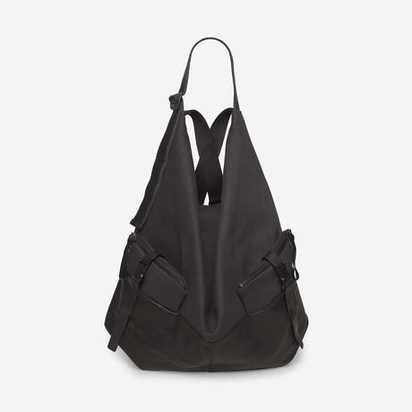 Ganges Medium Alias // Cowhide Leather + Denim // Agate Black + Charcoal Grey Canvas