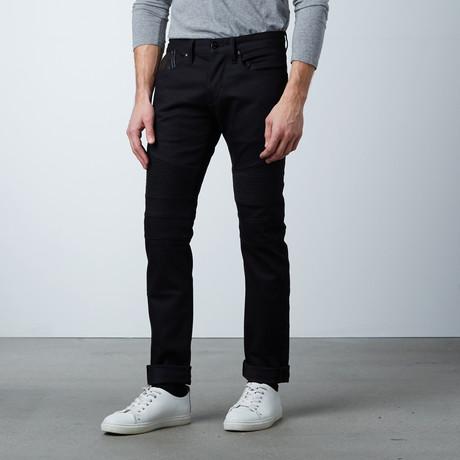 Moto Jeans // Black (28WX32L)