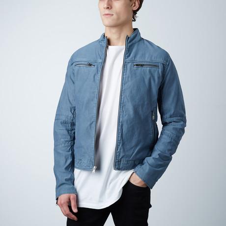 Canvas Moto Jacket // Grey Blue (S)