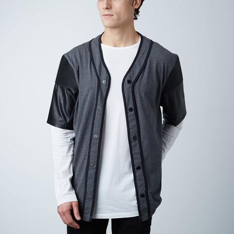 Baseball Tee W/ Synthetic Sleeve // Grey (S)