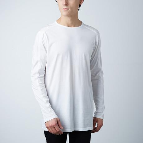 Long Sleeve Crew Neck // White (S)