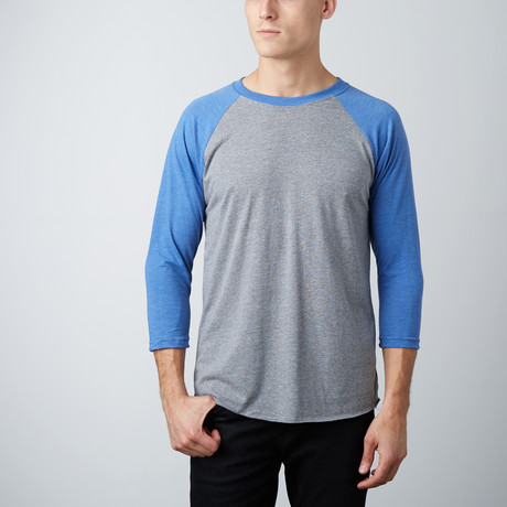 Ultra Soft Tri-Blend 3/4 Sleeve Raglan // 2 Pack // Red Heather + Royal Heather (S)