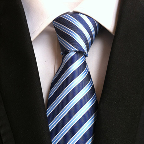 Silk Tie // Blue Striped