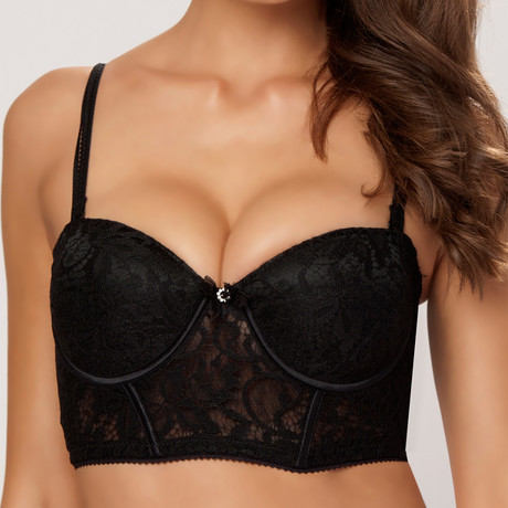 Intent Cup Bustier // Black (34B)