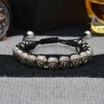 Zen Buddha Bracelet // Black + Silver