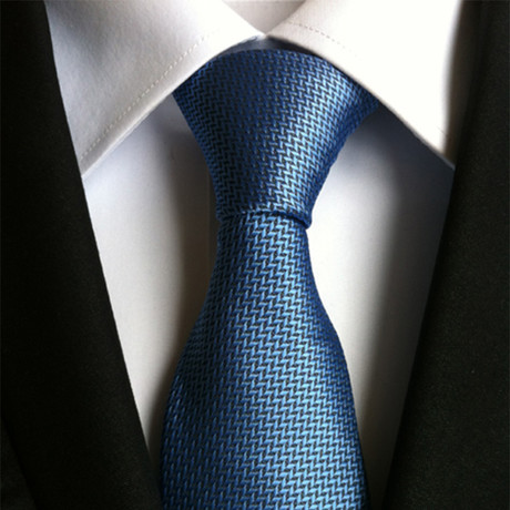 Silk Tie // Blue Patterned