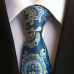 Handmade Tie // Yellow + Blue Floral
