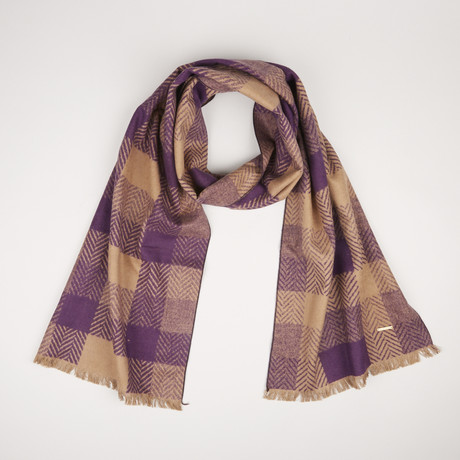 Lotus Herringbone Scarf 413 // Royal Purple 785