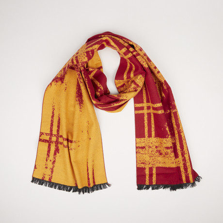 Lotus Check Scarf 412 // Paprika Red 774