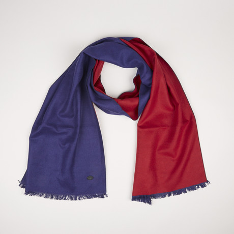 Lotus Double Scarf // Blue Paprika Red 851
