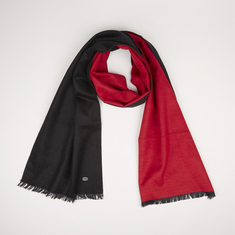 Lotus Double Scarf // Black + Paprika Red 818