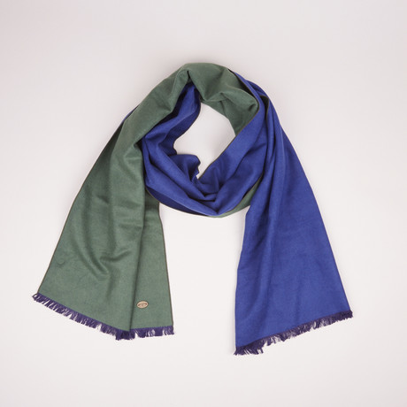 Lotus Double Scarf // Blue + Jungle Green 805