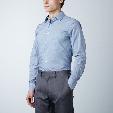 Houndstooth Dress Shirt // Blue (US: 14R)