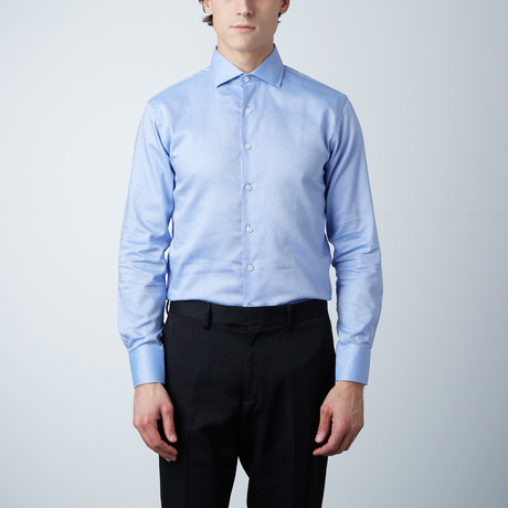 Textured Dress Shirt // Blue (US: 14R)