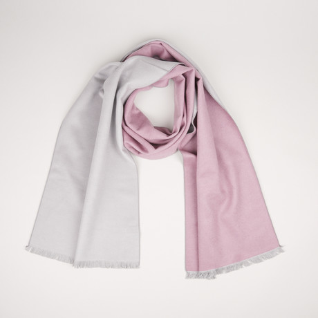 Lotus Double Scarf // Light Pink + Gray Melange 803