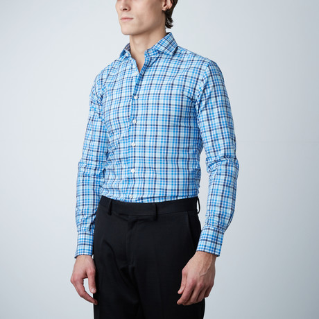 Check Dress Shirt // Blue (US: 14R)