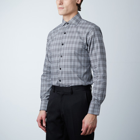 Pattern Dress Shirt // Black (US: 14R)