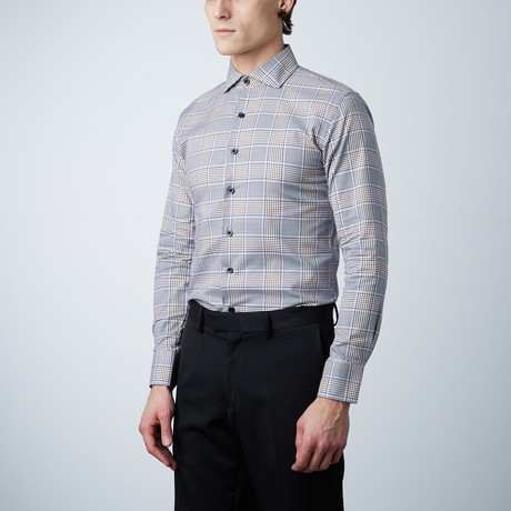 Plaid Dress Shirt // Brown (US: 14R)