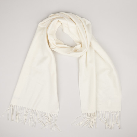 Patrick Single Scarf // Ecru 020