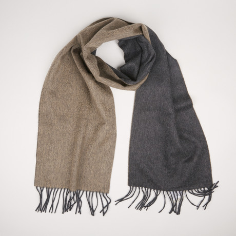 Patrick Double Scarf // Anthracite Camel 371